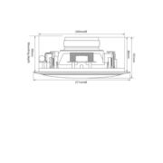 Adastra CSW8 Ηχείο Οροφής Sub 8″  2×8Ω 2x40W