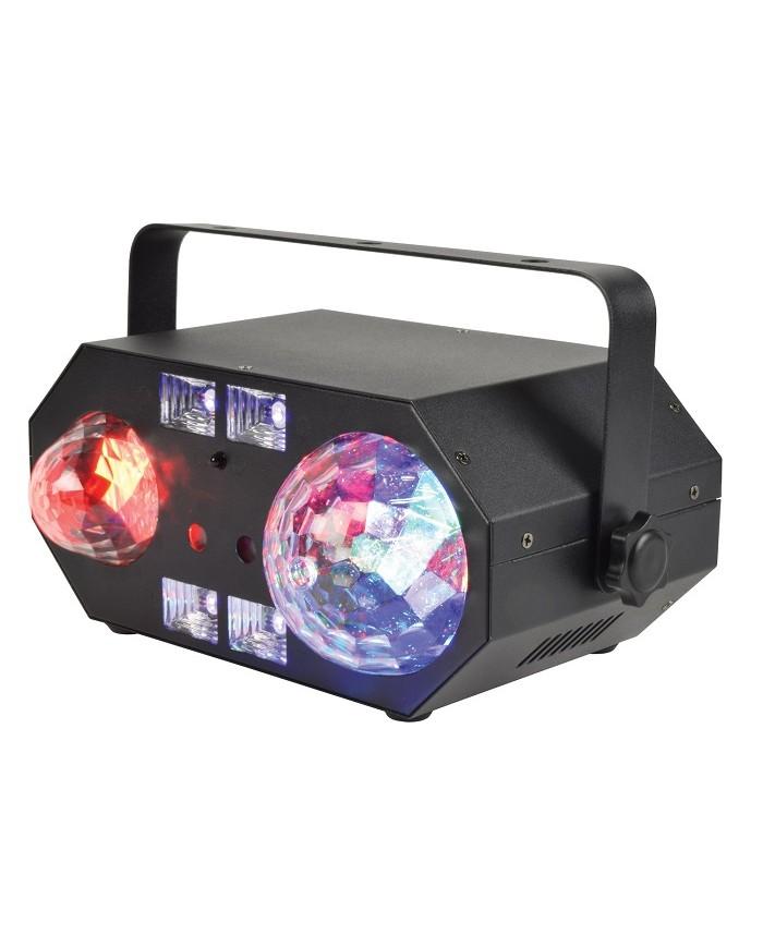 Qtx TETRA LED Moonflower + Ripple + Strobe / UV + Λέιζερ Εφέ