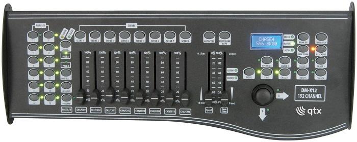 Qtx DM-X12 DMX Ελεγκτής 192 Καναλιών με Joystick