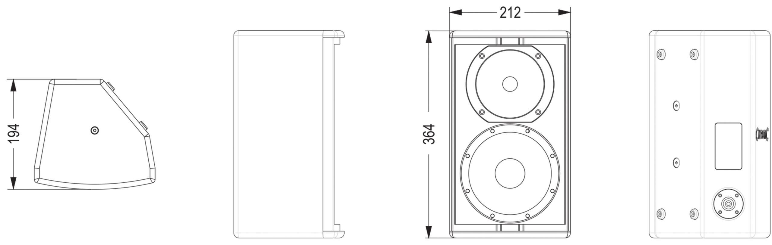 Citronic CX-8086B Παθητικά Ηχεία 6.5″ 80W