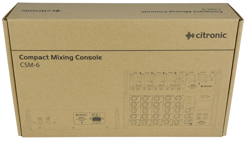 Citronic CSM-6 Compact Κονσόλα Μίξης 4 Καναλιών με USB & Bluetooth (Τεμάχιο)