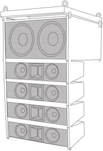 Citronic CLA-300B Σύστημα συμπαγούς ηχείου Active Line Array - 300W + 300W rms