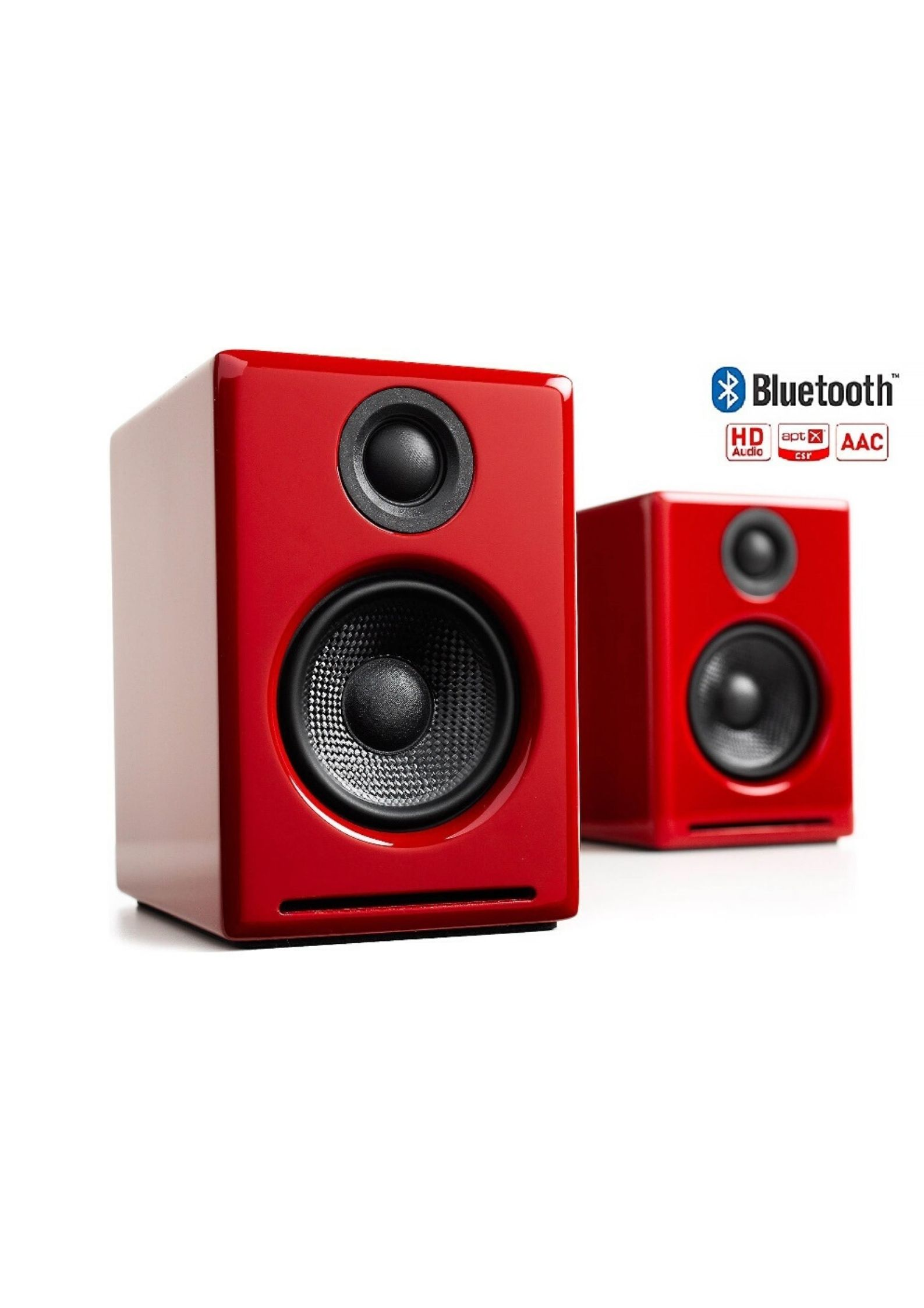 Audioengine A2+Wireless Ασύρματα Αυτοενισχυόμενα Ηχεία Υπολογιστή Gloss Red