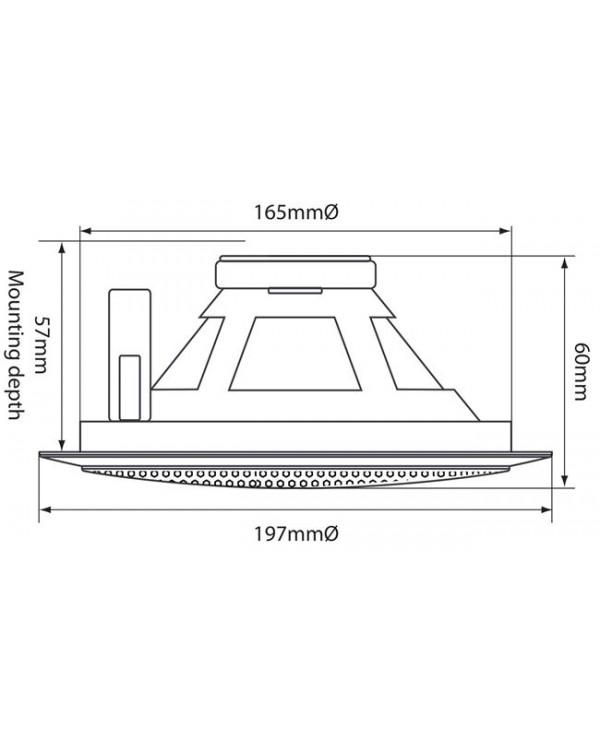 Adastra EC56V Ηχείο οροφής 5.25″ 100V 6W