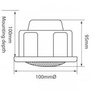 """Adastra CM/VC Ηχείο οροφής 2.5"""" 100V 6W"""