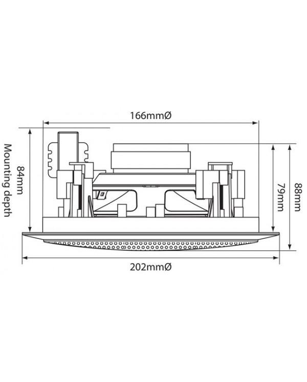 Adastra CC5V Ηχείο οροφής 5.25″ 100V/8Ω 50W