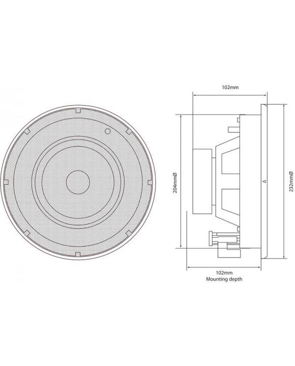 Adastra SL6 Ηχείο Οροφής 6.5″ 8Ω 40W