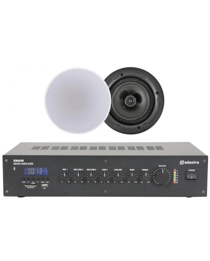 Ολοκληρωμένο Σύστημα 4 Ηχείων Οροφής με Ενισχυτή & USB / SD Player (Value 4 Money Bundle).