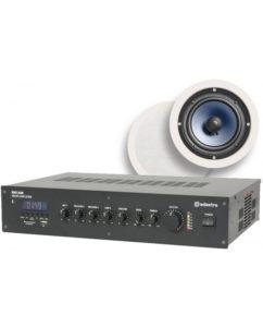 Ολοκληρωμένο Σύστημα 4 Ηχείων Οροφής με Ενισχυτή & USB / SD Player (Premium Bundle).