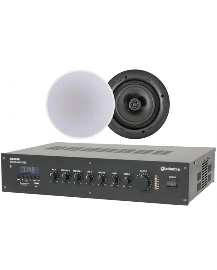 Ολοκληρωμένο Σύστημα 6 Ηχείων Οροφής με Ενισχυτή & USB / SD Player (Value 4 Money Bundle) 2B