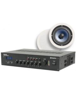 Ολοκληρωμένο Σύστημα 6 Ηχείων Οροφής με Ενισχυτή & USB / SD Player (Premium Bundle).