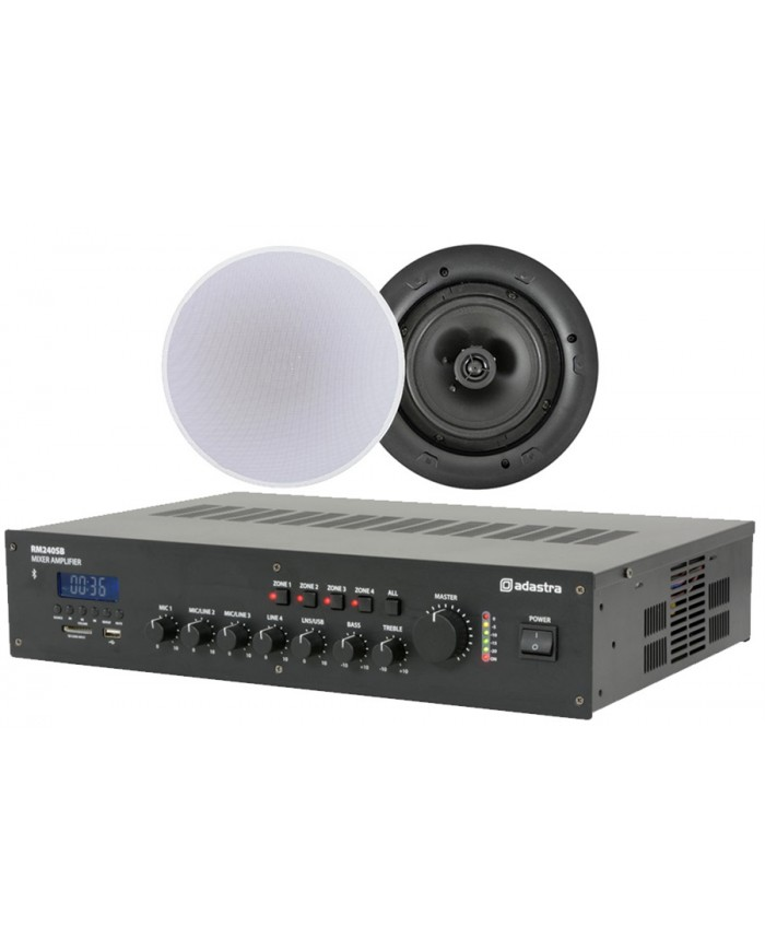 Ολοκληρωμένο Σύστημα 8 Ηχείων Οροφής με Ενισχυτή & USB / SD Player (Value 4 Money Bundle).