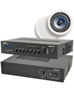 Ολοκληρωμένο Σύστημα 8 Ηχείων Οροφής με Ενισχυτή & USB / SD Player (Premium Bundle).