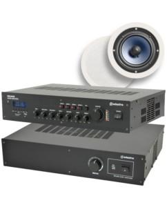 Ολοκληρωμένο Σύστημα 8 Ηχείων Οροφής με Ενισχυτή & USB / SD Player (Premium Bundle 3-C)