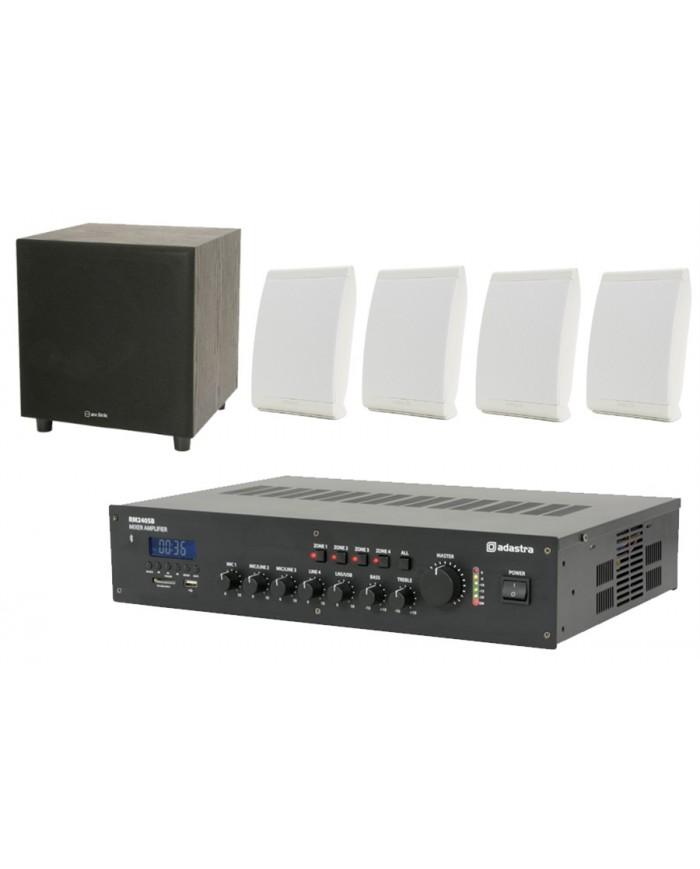 Ολοκληρωμένο Σύστημα 4 Ηχείων + Subwoofer με Ενισχυτή & USB / SD Player Omni-4
