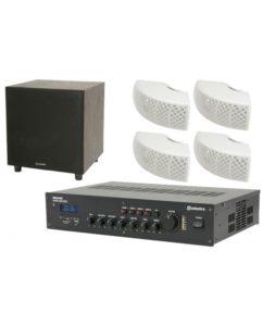 Ολοκληρωμένο Σύστημα 4 Ηχείων + Subwoofer με Ενισχυτή & USB / SD Player.