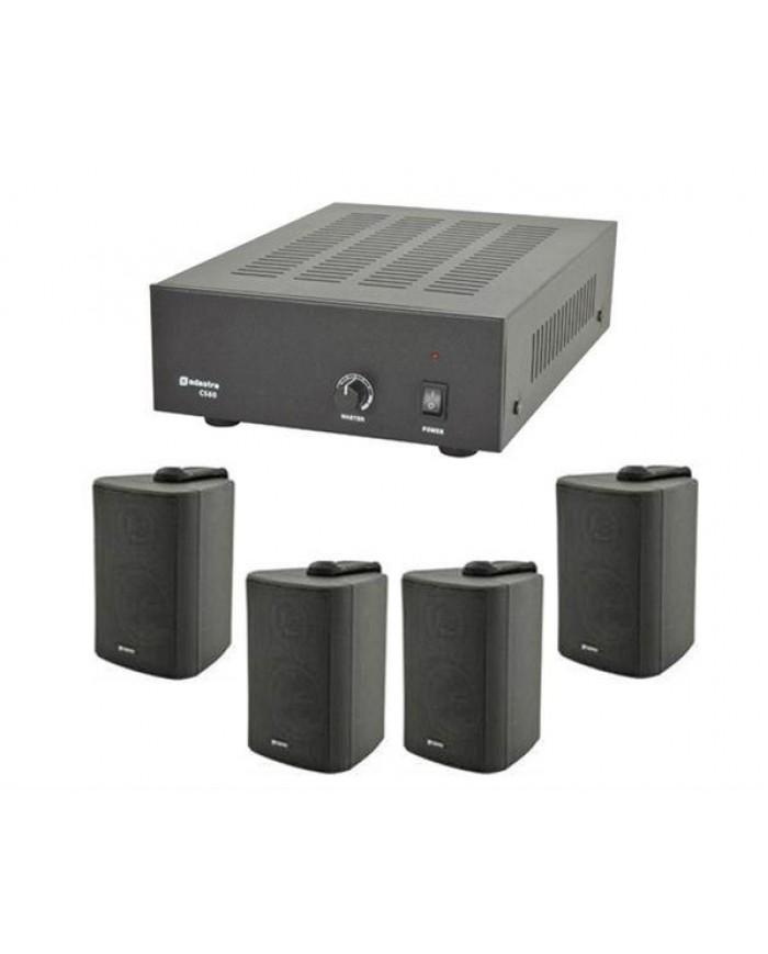 Ολοκληρωμένο Σύστημα 4 Ηχείων Τοίχου με Ενισχυτή 100V