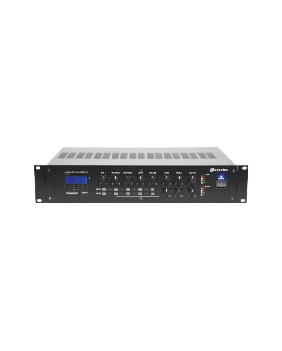 Adastra RM1202 100V/8Ω Μίκτης-Ενισχυτής 2 Ζωνών Με USB/SD/FM & Bluetooth 2x120W 2U