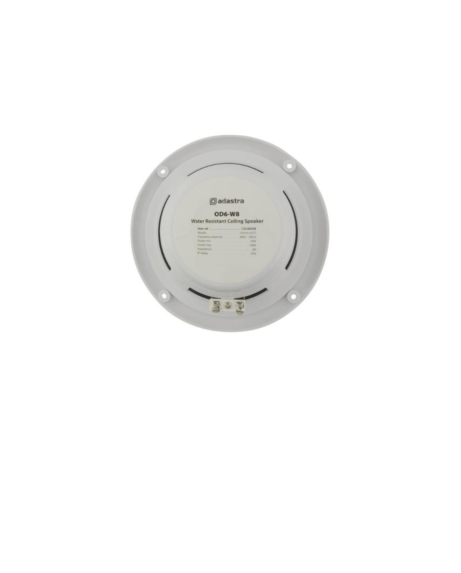 Adastra OD6-W8 Αδιάβροχα Ηχεία οροφής 6.5″ 8Ω 40W
