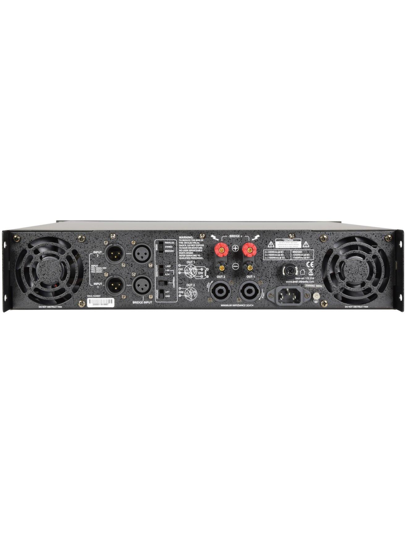 Citronic PLX2000 Τελικός Ενισχυτής 2x1000W 2U