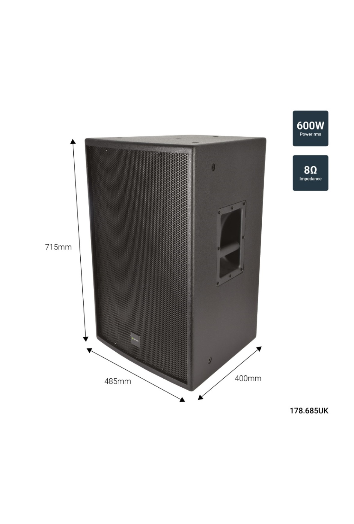 Citronic CS-1560 Παθητικό Ηχείο 15″ 8Ω 600W
