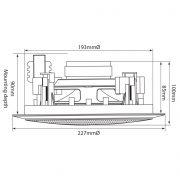 Adastra CC6V Ηχείο οροφής 6.5″ 100V/8Ω 50W