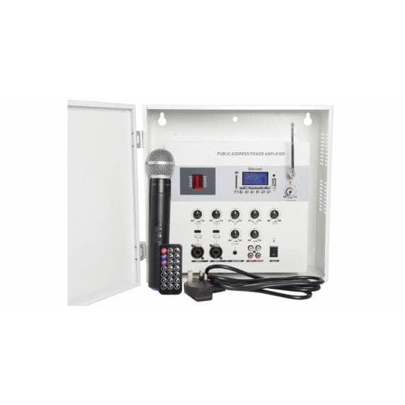 Adastra SA180 Επιτοίχιος Ενισχυτής-Μίκτης Ασφαλείας με Media Player & UHF Μικρόφωνο