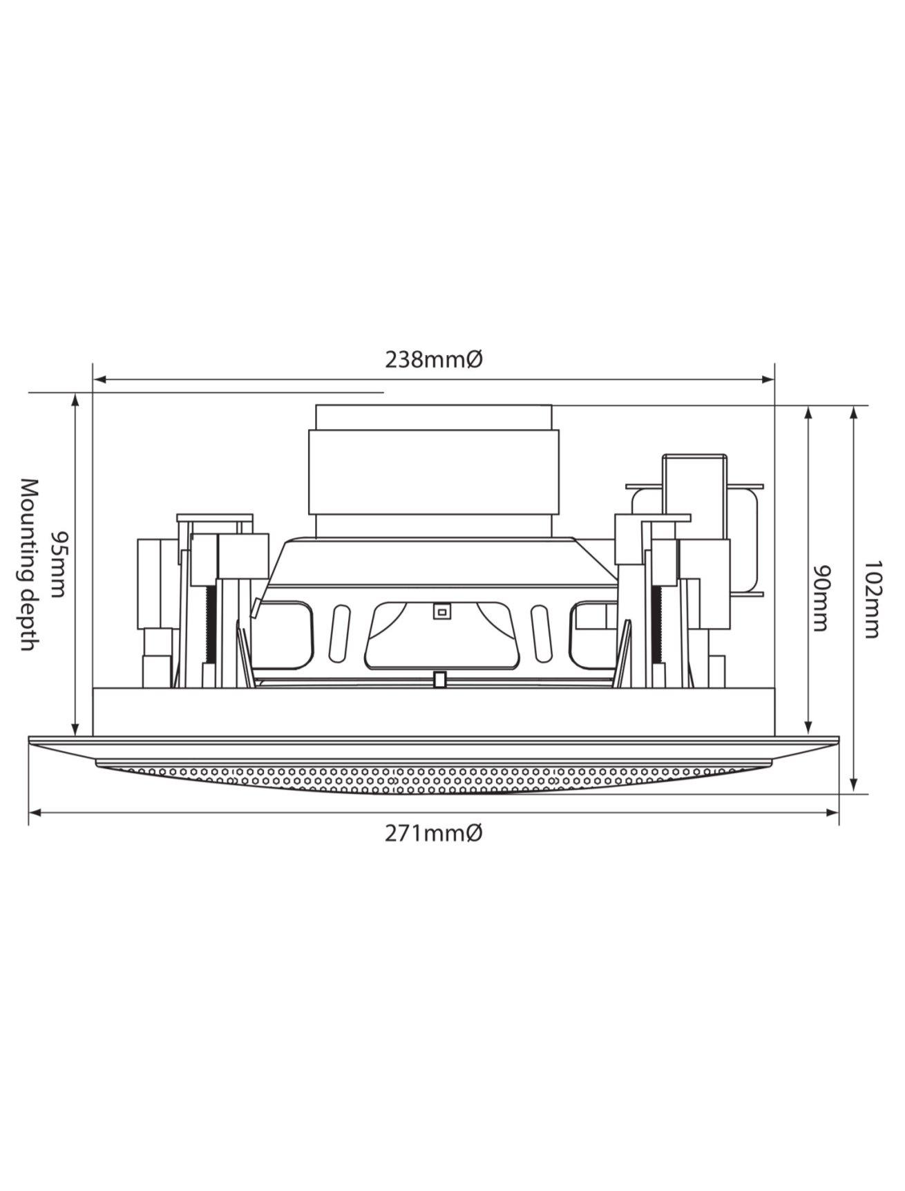 Adastra CC8V Ηχείο Οροφής 8″ 100V/8Ω 60W