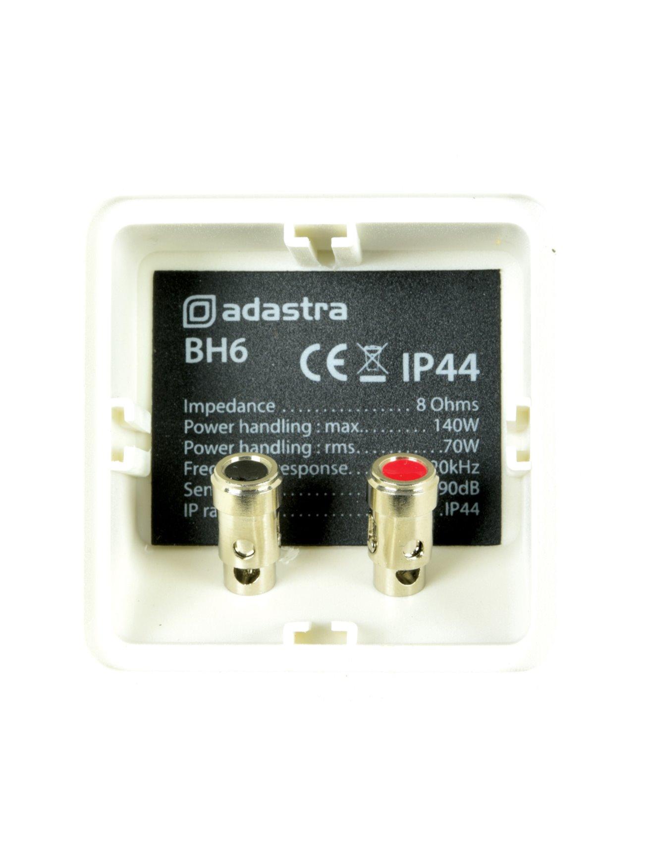 Adastra BH6 Επιτοίχια Ηχεία 6.5″ 8Ω 70W