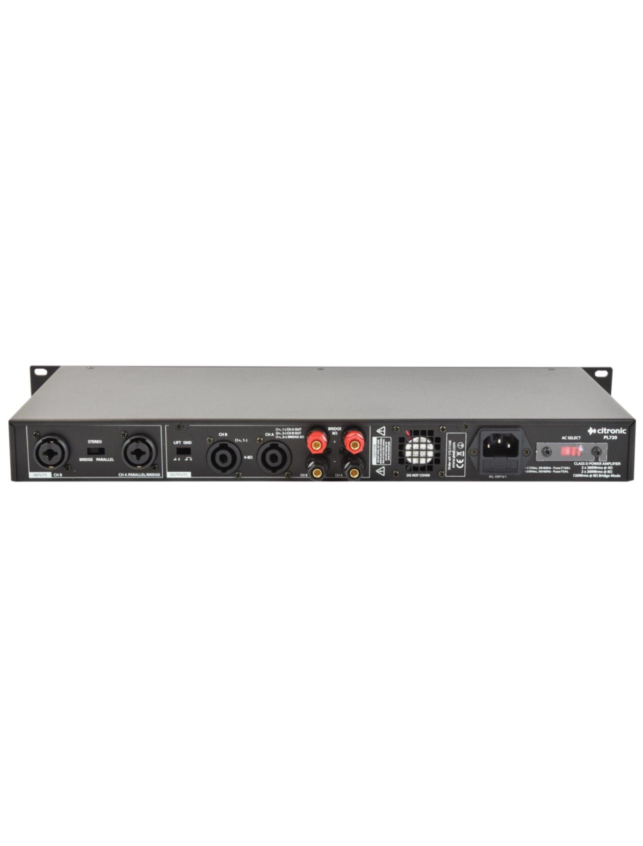 Citronic PL1080 Ψηφιακός Ενισχυτής 2x540W 1U