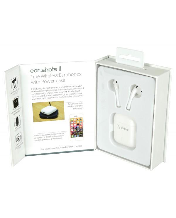 AvLink Ear Shots II Ασύρματα Bluetooth Ακουστικά με Θήκη Ασύρματης Φόρτισης
