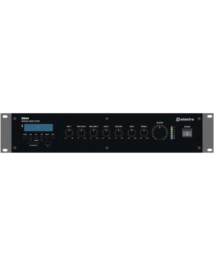 Adastra RM60 100V/8Ω Μίκτης-Ενισχυτής Με USB/SD/FM & Bluetooth 60W 2U