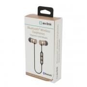 AvLink EMBT1-GLD Bluetooth Μεταλλικά Μαγνητικά Ακουστικά