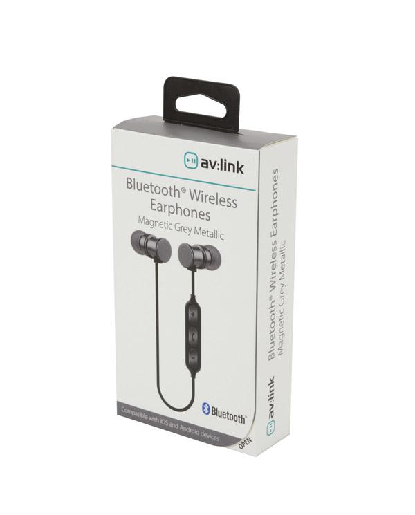 AvLink EMBT1-GREY Bluetooth Μεταλλικά Μαγνητικά Ακουστικά