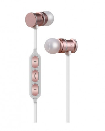 AvLink EMBT1-RSE Bluetooth Μεταλλικά Μαγνητικά Ακουστικά