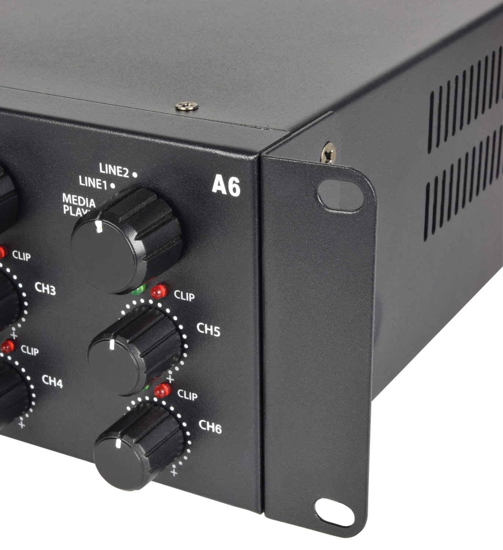 Adastra A6 Τριπλός Στερεοφωνικός Ενισχυτής 3x2x200W 2U