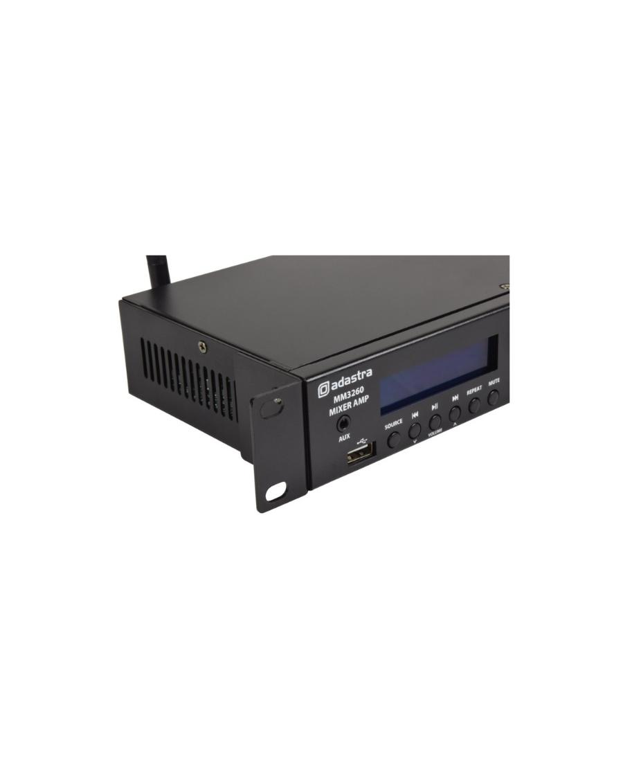 Adastra MM3260 Στερεοφωνικός Μίκτης-Ενισχυτής Με USB/AUX/FM & Bluetooth 2x60W 1U