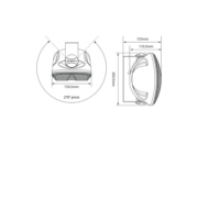 Adastra FC4V Ηχείο Επιτοίχιο 4″ 100V/8Ω
