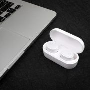 AvLink Sound Shells Ασύρματα Bluetooth Ακουστικά με Θήκη Ασύρματης Φόρτισης – Λευκό