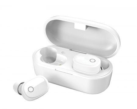 AvLink Sound Shells Ασύρματα Bluetooth Ακουστικά με Θήκη Ασύρματης Φόρτισης - Λευκό