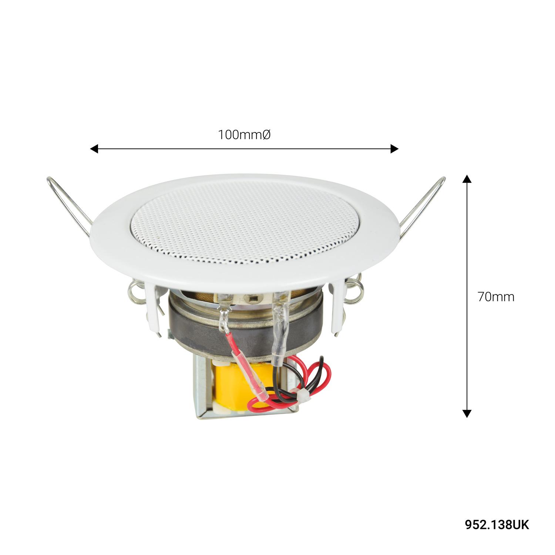 Adastra EC36V Αδιάβροχο ηχείο Οροφής 3″ 100V 6W