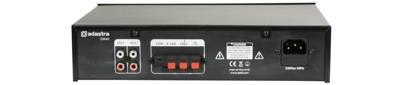 DM40 Mίκτης-Ενσχυτής με USB/FM και Bluetooth