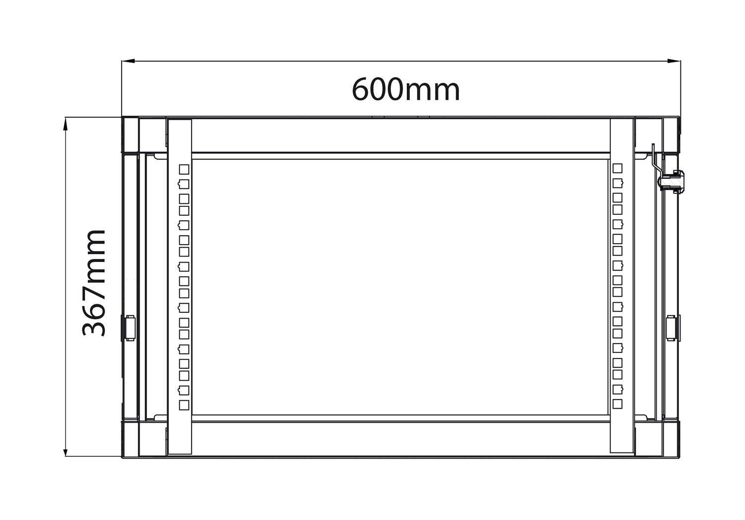 19″ Rack Εξοπλισμού 6U x 450mm Deep RC6U450