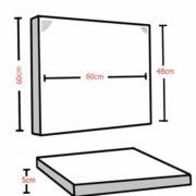 Audiodesigner Lap Ηχοαπορροφητικό Πάνελ 5cm Μαύρο  (Σετ)