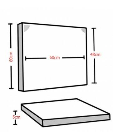 Audiodesigner Lap Ηχοαπορροφητικό Πάνελ 5cm Silver Grey (Σετ)