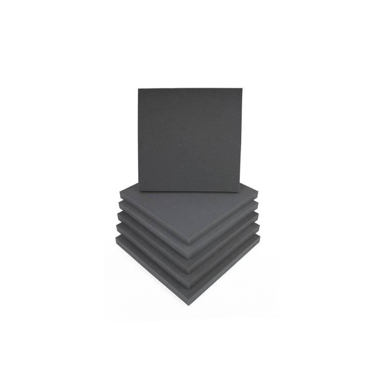 EQ Acoustics Square 60 Tile Ηχοαπορροφητικό Πανελ Αφρού 5cm Grey (6 Τεμάχια)