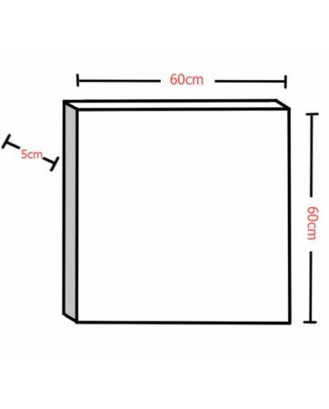 Audiodesigner Tetragwno Ηχοαπορροφητικό Πάνελ 5cm Silver Grey (Τεμάχιο)
