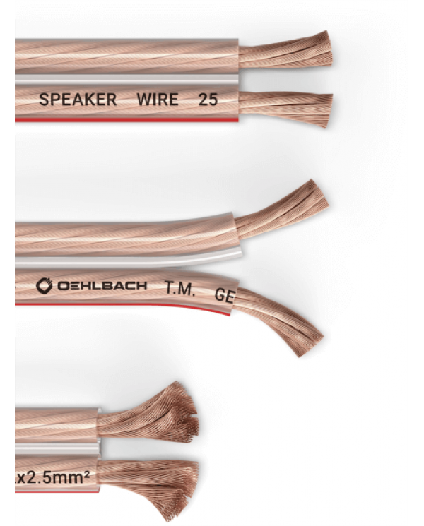 Oehlbach Speaker Wire SP-25 Καλώδιο Ηχείων 2 x 2,5 mm² 20m