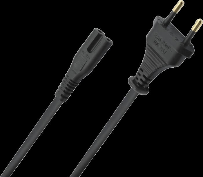 Oehlbach Powercord C7 Καλώδιο CEE7/16 – C7 5m Μαύρο