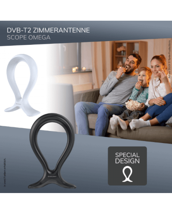 Oehlbach Scope Omega Εσωτερική Κεραία για DVB-T2 Μαύρο